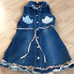 The Children Place Girls Jean Dress Size 8